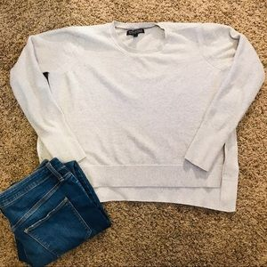 Banana Republic square, split-side, boxy sweater